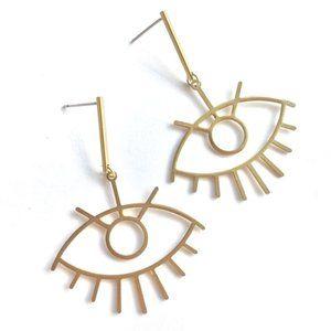 Long Lash Evil Eye Post Earrings